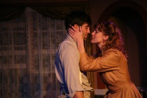 Elyse Mirto and Jake Robards as Abraham and Anna Mendel