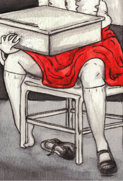 Hangman School For Girls (art by Maya Battle)