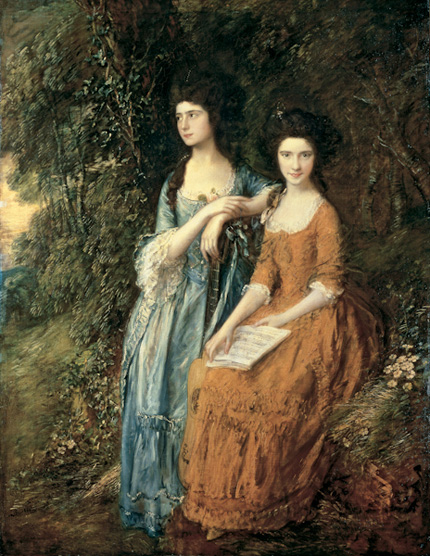 Elizabeth and Mary Linley — The Linley Sisters /  Oil on canvas by Thomas Gainsborough (1727–1788)
