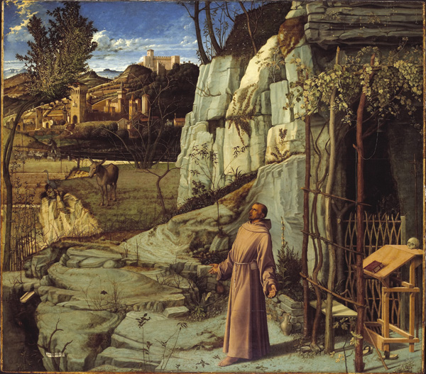 St. Francis in the Desert / oil and tempera on poplar panel by Giovanni Bellini (c. 1430 - 1516)