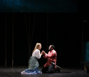 Jessica Blood (Desdemona) and Daniel Morgan Shelley (Othello) | photo by Brad Fryman