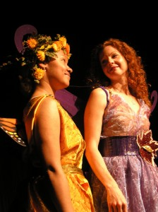 Tania Jeudy as Pumpkinseed, Michelle Ramoni as Titania (Photo Credit: Nancy Keegan)