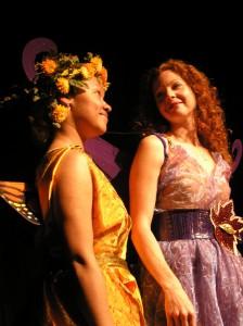 Tania Jeudy as Pumpkinseed, Michelle Ramoni as Titania (Photo Credit: Nancy Keegan)