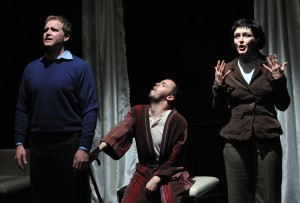 Alex Cranmer as Thomas, Tim Spears as Anthony and Paula Langton as Doctor Chapman (Photo Credit: Stan Barouh)