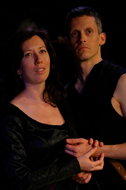 Virginia Bartholomew as Lady Macbeth and James Stewart as Macbeth (phot by Ben Strothmann)