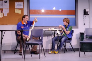 Will (Andrew Garman) helps his son Alex (Matt Farabee) (Photo Credit: Stephen Taylor)
