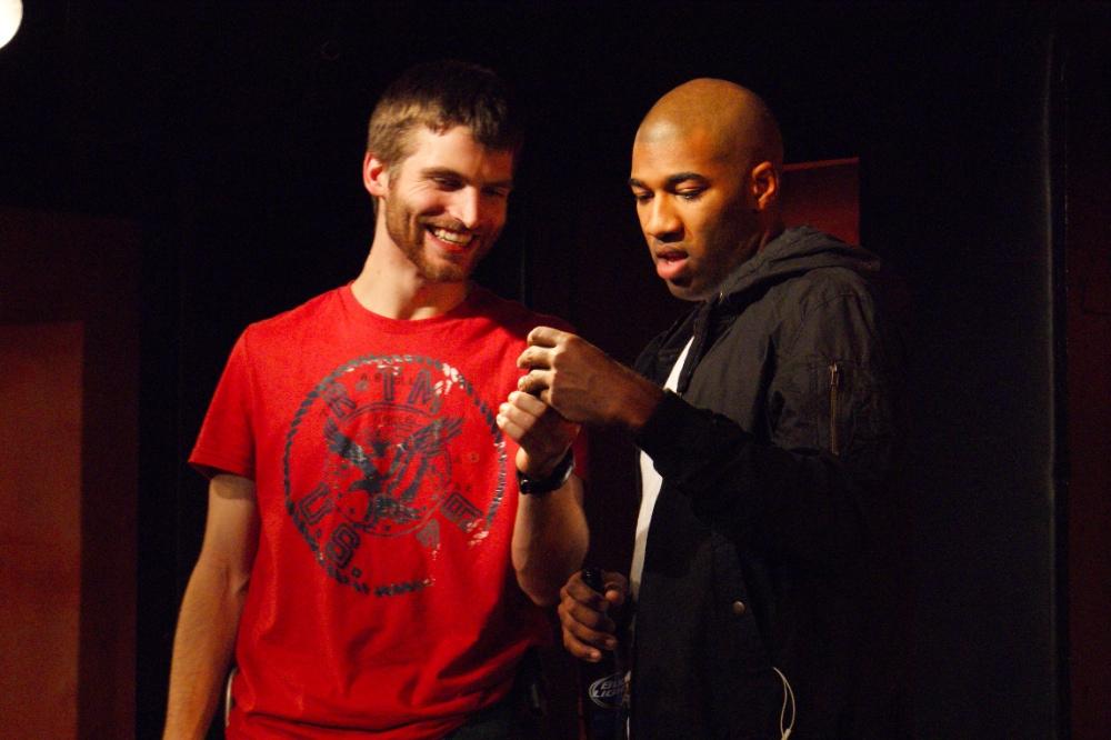 Scott Morse as Andy and Ron Washington as Darren (Photo by Dan Applegate)