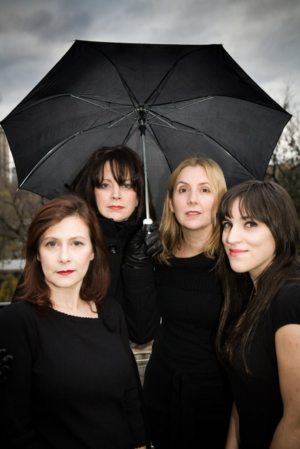 Death, It Happens (Photo by Cathryn Lynne) Pictured from left to right; Maureen Van Trease, Lori Kee, Bricken Sparacino and Rebecca Chiappone)