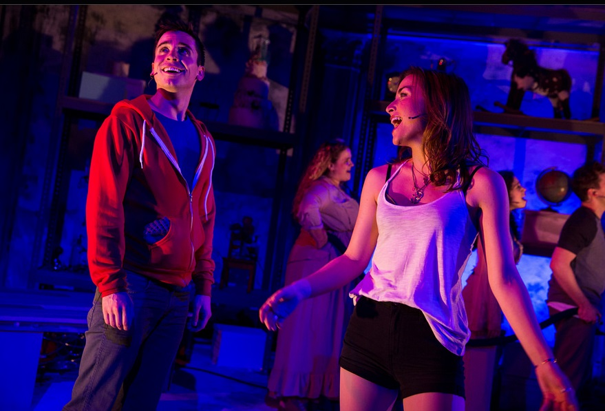 "Matt Doyle and Allison Scagliotti in ""Living Dead"" [photo by Matthew Murphy]"